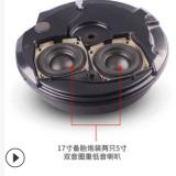 批发汽车音响17寸备胎低音炮导流气孔12V双音圈重低音专利认证