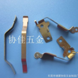 灯饰铝管专业不锈钢卡扣弹片冲压件 不锈钢热处理本黄色扣片