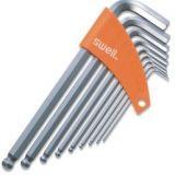 内六角扳手 9件装镀铬加长球头内六角扳手 Swell工具 斯威尔工具