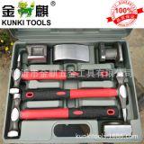 厂家供应七件套红黑包塑柄锻打汽车修理钣金工具组套 K7PCS003