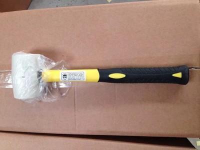 全包塑柄白色橡胶锤,橡胶锤,临沂白色橡胶锤,黄黑全包塑 胶锤
