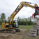 石头抓斗抓石机厂家直销 工程机械配挖掘机使用360度旋转抓石器