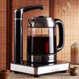华迅仕黑晶触摸面板高硼硅玻璃电热水壶茶盘自动上水电茶壶
