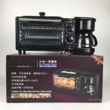 厂家直销索密斯多功能三合一早餐机家用电烤箱咖啡机支持外贸订单