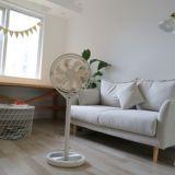 kamomefan日本静音风扇12寸家用变频遥控落地式风扇音定时摇头扇