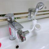 面盆全铜龙头分水器洗脸盆水龙头改装花洒喷头洗头神器龙头分流器