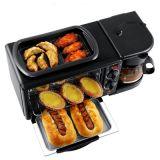 早餐机家用烤箱 厂家批发三合一多士炉 一件代发早餐机