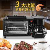 早餐机 多功能 电烤箱+咖啡机+电烤盘三合一 煎烤煮同步 早餐吧