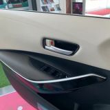 适用于19款卡罗拉 abs电镀内拉手框 改装专用 银 碳纤纹内饰