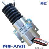 P613-A1V12柴油发动组停机断油电磁阀24v油门控制器汽车熄火开关
