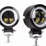 LED工作灯 汽车车灯 LED大灯新款LED工作灯雾灯20W带光圈 天使眼
