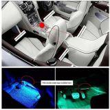 跨境专供5050RGB滴胶IP65汽车氛围灯带音乐红外遥控一拖四套装