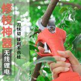 龙威电动修枝剪高空高枝剪充电式园艺剪摘果树枝剪刀大省力粗枝剪