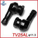 摩托车气门嘴TV25AL φ11.3mm 铝合金CNC改装90度直角气嘴适用RSZ
