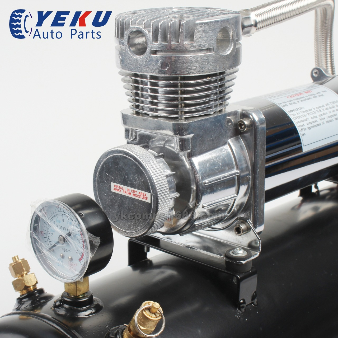 480C车载充气泵带2.5gal储气罐改装气泵