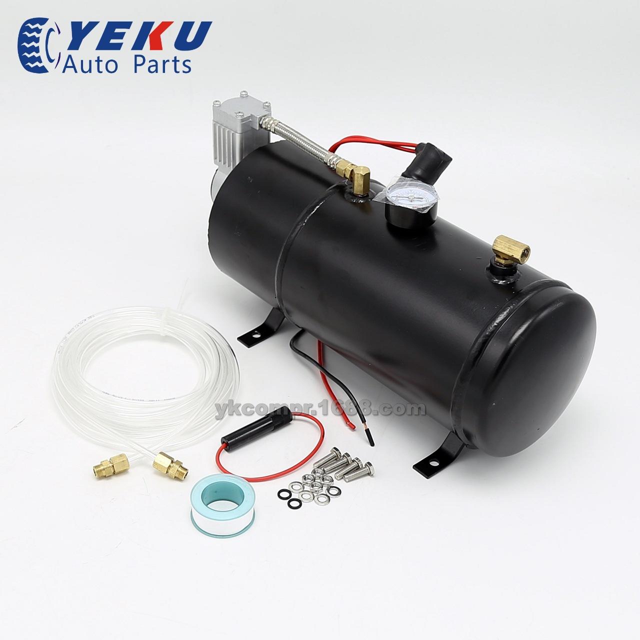 黑色带3L储气罐车载气泵汽车改装气泵空压机6-8压