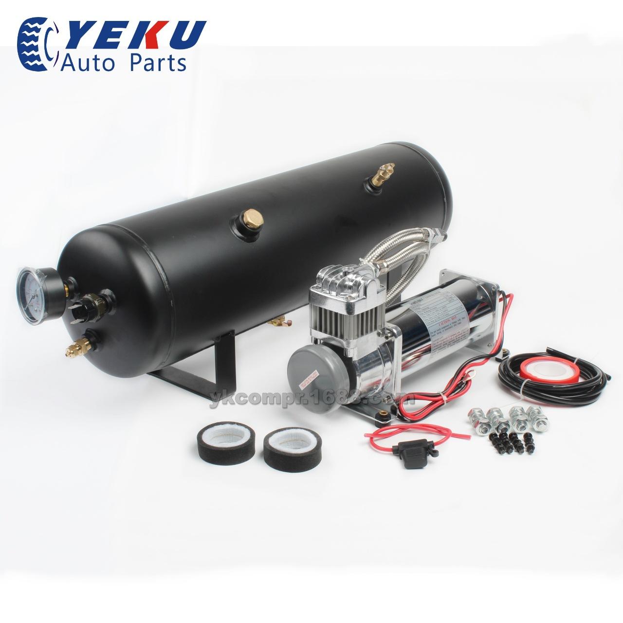 车载充气泵带3gal储气罐改装气泵大压力气泵