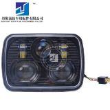 适用吉普切诺基LED大灯改装 7寸方形龙板LED切诺基近远光大灯黑色